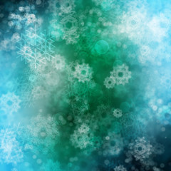 Green Background with Snowflakes