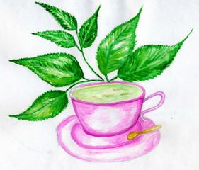 Green Tea Art