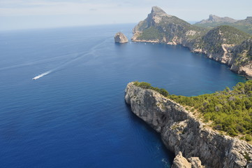 Palma de Mallorka, Spain - July 15, 2014: Formentor cape