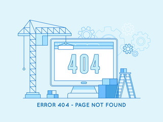 404 page design template and web site under construction