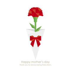 Red carnation of mother's day