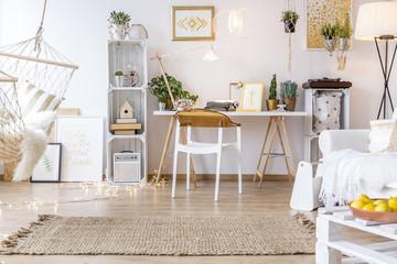 Creative boho style room