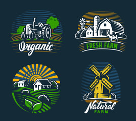 landscape agriculture emblem