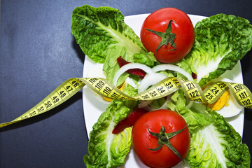 salad of tomato on Slate
