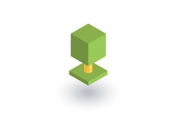 tree isometric flat icon. 3d vector colorful illustration. Pictogram isolated on white background