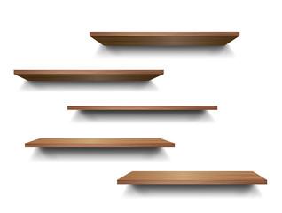 3d isolated Empty shelf for exhibit. Vector illustration.