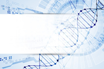 Science template, DNA molecules background.