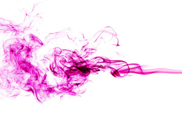 Fototapete - pink smoke on white background. abstract art