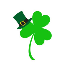 Three leaf clover icon. St. Patrick's day symbol. Vector illustration