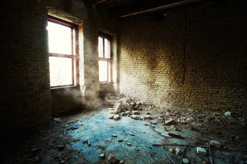 Abandoned old building room