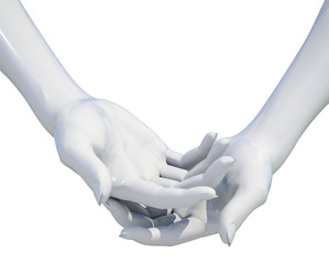 Woman Hand Holding Isolated