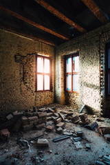 Abandoned building room