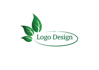 Ecology vector logo design.