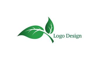 Ecology vector logo design.