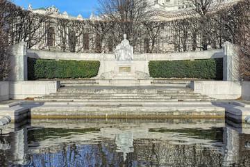 Empress Elisabeth Monument in Volksgarten park of Vienna, Austria. The monument was unveiled on June 4, 1907.