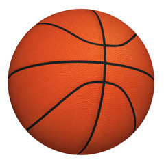 Basketball ball isolated on white background. orange color Basketball ball. 3d render