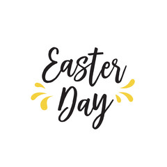 Easter Day Lettering and Splashes