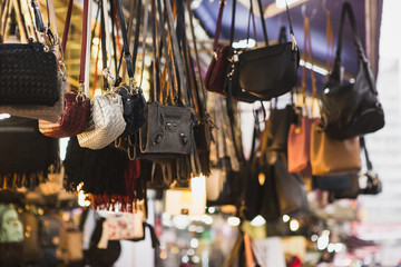 Many women's bags on the market.