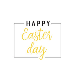 Happy Easter Day Lettering in Frame