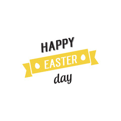 Happy Easter Day Lettering on Ribbon
