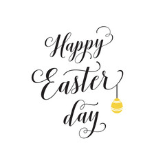 Happy Easter Day Thin Line Lettering