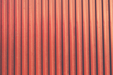 Red garage door metal texture