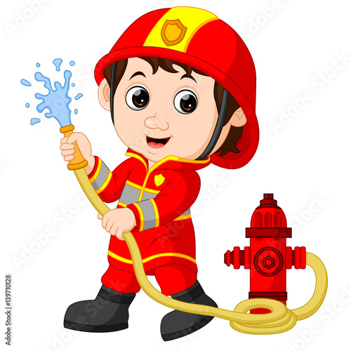 quot firefighter cartoon quot  stock image and royalty free vector clipart pictures of fire engine fire truck clip art images black and white