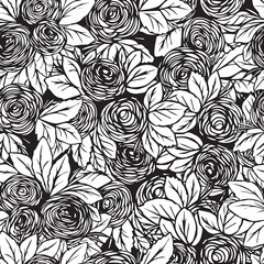 seamless pattern in roses.