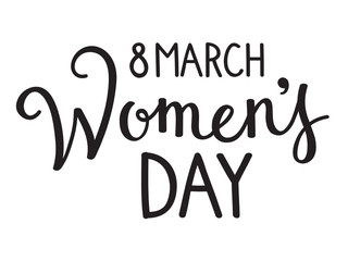 8 March - WOMEN'S DAY Hand Lettering Icon