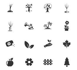 plants tools icon set