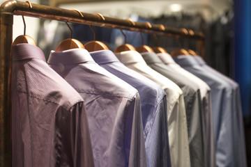 Men shirts on hangers