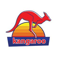 Kangaroo. Vector logo. icon symbol.