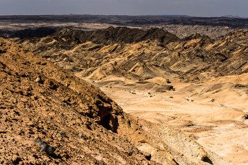 Beautiful view of the Moon landscape, Namibia desert, Africa