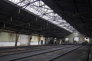 Railroad workshop maintenance hangar
