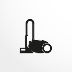 Home vacuum cleaner. Vector icon.