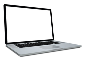 3d laptop isolated on white background. 3d rendering