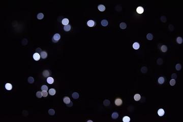 abstract lighting  bokeh on dark background.