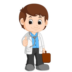 cute doctor cartoon