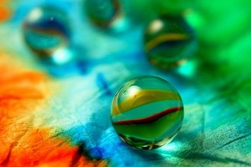 The retro glass ball abstract background.