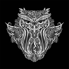 vector Owl tattoo