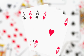 cards, aces and joker 7