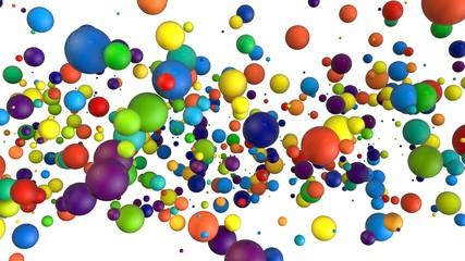 3d composition of different balls