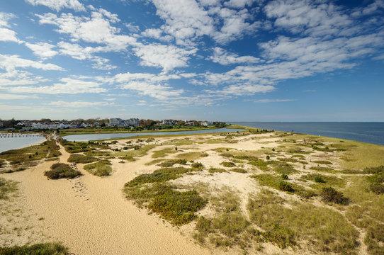 Lighthouse Beach in Edgartown, Martha's Vineyard, New England, Massachusetts, USA