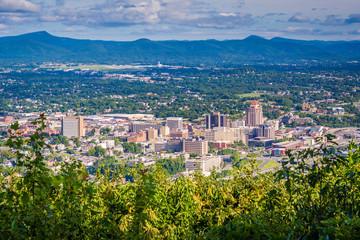 View of Roanoke from Mill Mountain, in Roanoke, Virginia. Fotoväggar