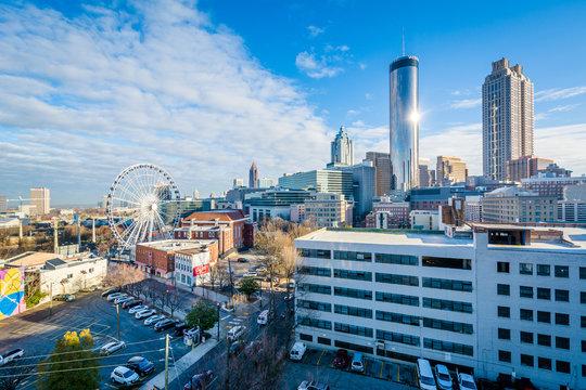 View of buildings in downtown Atlanta, Georgia.
