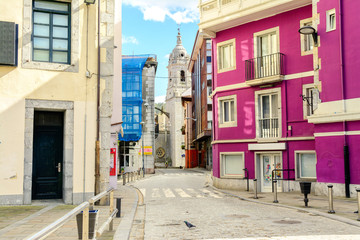 colorful village of lekeitio at basque country, Spain