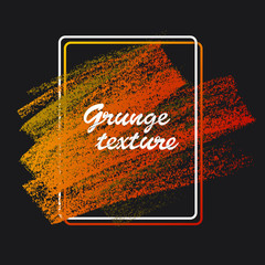 Textures of chalk and charcoal. Vector brush strokes. Soft pastel colors. Decorative frame. High resolution image. Grunge template. For registration of design projects: posters, banners, stickers