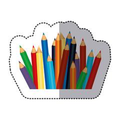 color pencils color icon, vector illustraction design image