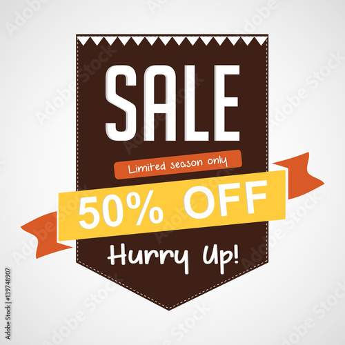 creative vector template for sale tag design illustration