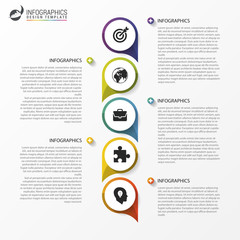Timeline concept. Infographic design template. Vector